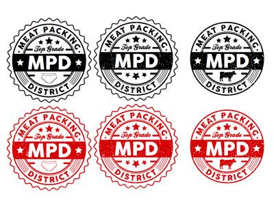 Meat Packing District logo design branding