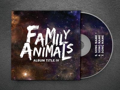 Family Animals Band Logo musicians album art cd band merch cd design branding logo design