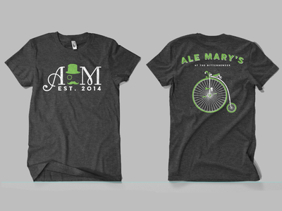 Ale Mary's Staff Shirts restaurant branding bar  restaurant bar staff shirts tshirt design t-shirt design apparel design branding logo design