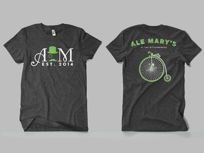 Ale Mary's Staff Shirts restaurant branding bar  restaurant bar staff shirts tshirt design t-shirt design apparel design branding logo design