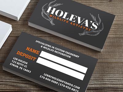 Holeva's Wildlife Artistry Business Cards stationary business card business card design branding logo design