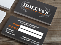 Holeva's Wildlife Artistry Business Cards