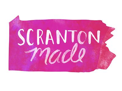 ScrantonMade State Logo event promotion illustration branding logo design
