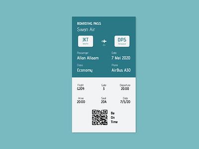 boarding pass, daily ui 24 daily ui