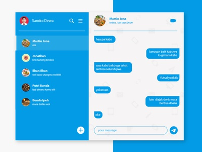 chat daily ui