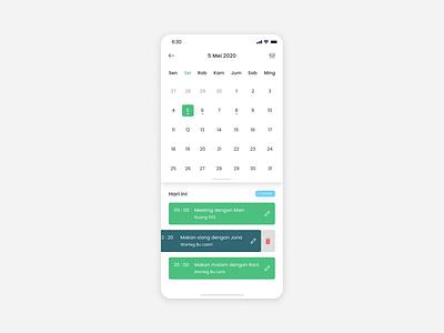 Calendar design daily ui ui