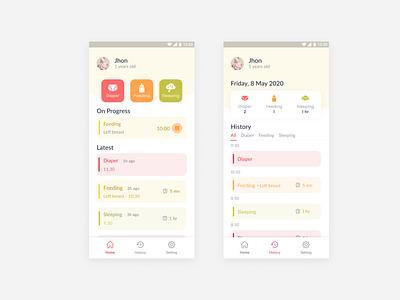 baby app design app ui