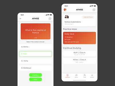 aplikasi kuis design app ui
