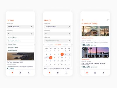 Travel ux design app ui