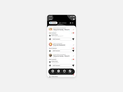 Sharing App ui design app