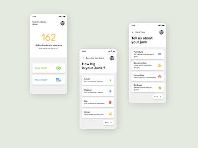trash app design app ui