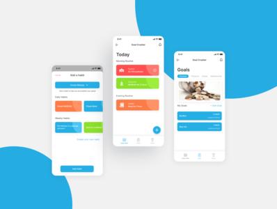 Goal App goal goals design ux app ui