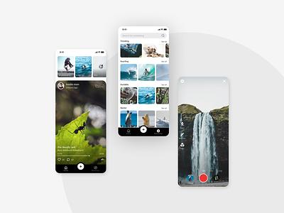 Video Sharing App ux ui interaction social video design app