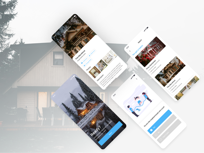 Real Estate - Mobile App Design buying apartment house home real estate design app ui