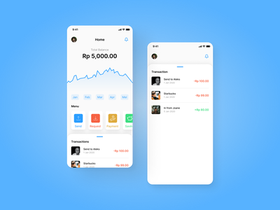 Finance App - Mobile mobile fintech bank finance design app ui