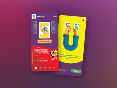 UNO App    I    UI Concept uiuxdesign illustration 3d art animation mobile ui app design mobile app uiux ui design application app design game ui