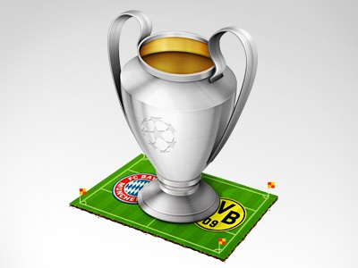 Uefa Champions League Final incredible wand icons illustration details ucl final cup