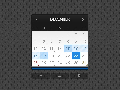 December web elements icons pixelcloth clean