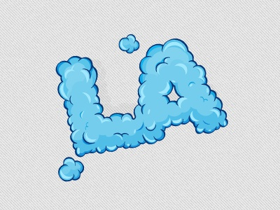 LA Clouds logo pixelcloth illustrator vector