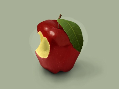 Apple pixelcloth digital painting details brush paint realistic