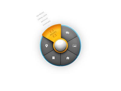 Circular Menu pixelcloth menu circular navigation interface ui round