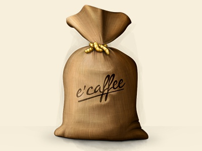 e'Caffee icon pixelcloth digital painting details brush coffee texture