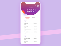 Safe money Pt. 2 prototype utilities payment icons ui ux simple optimised savings finance animation design bank account mobile app
