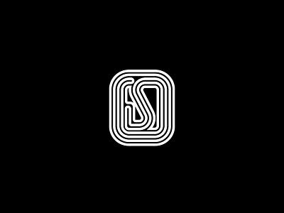 OS Monogram flat black  white os monogram monogram branding icon vector personal branding symbol