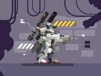 Futuristic Robot Anlayze