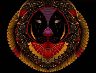 Symbol of Pride vector illustration illustrator lion pride tribal art
