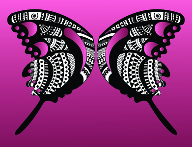 butterfly butterfly black and white hand drawn illustration art illustrator