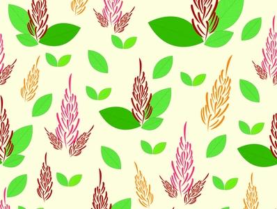 Amaranthus flowers flowers pattern background design textile pattern repeat pattern seamless illustrator