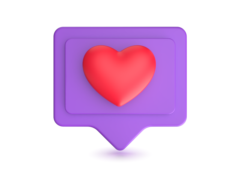 Like Icon 3d design bubble heart like design 3d art 3d icon dribbble