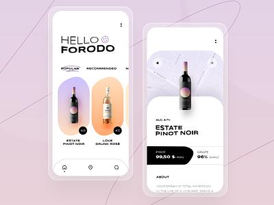 Wine app concept concept app rate shop wine mobile app design ui design ux mobile creative design ui
