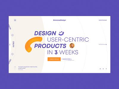 Design agency website 3d trendy web color ui website creative typography agency ux