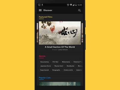 Discover (The Scene Club Android App)  feed movies discover