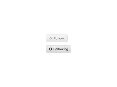 Follow Button follow button following