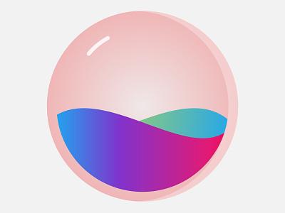 Ball & Waves waves ball vector illustration design