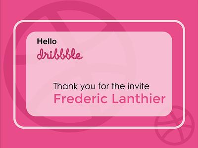 Hello Dribbble hellodribbble firstshot debut design dribbble thankyou dribbble invite
