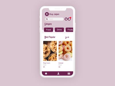 Foods App UI