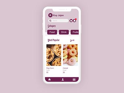 Food App UI ecommerce app shop food app ux design mobile app mobile ui branding design ui