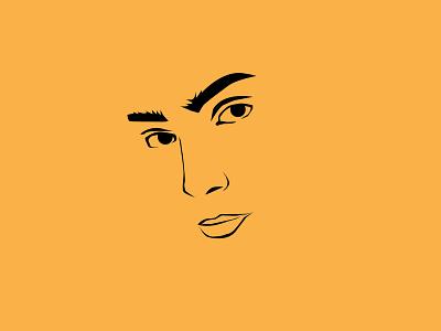 The Face art vector illustration design