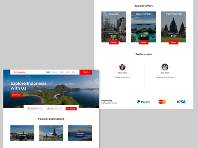 Travel Website ux design design travel app traveling indonesia ui design trip travel website design