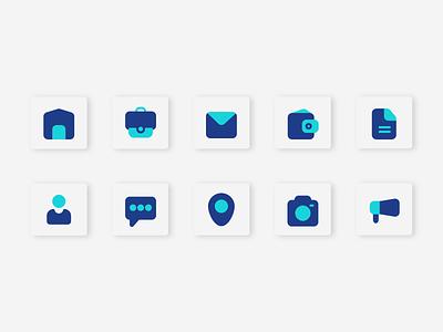 Business Icons Flat Design mobile app ux icon set iconsets flatdesign blueberry icon design art icons graphic design illustration design