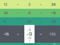 Calculator for tv