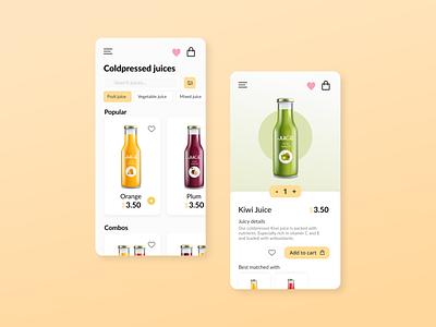 Juice store app online shop juice