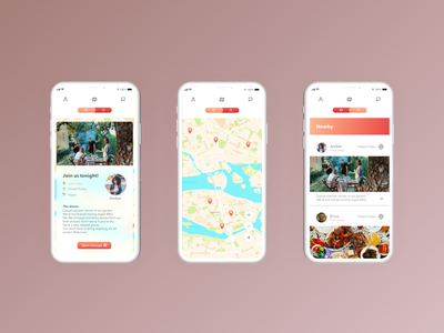A seat at the table dinner social app