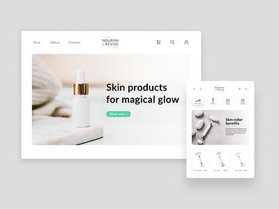 Skincare webshop webshop spa skincare