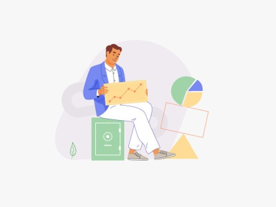 Angel list design mobile web app people graphic pastel vector character illustration