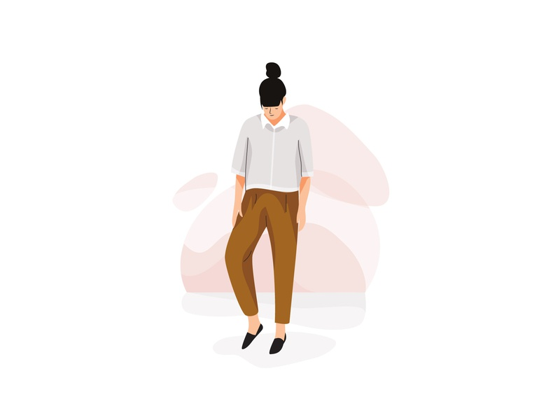Character design I design girl mobile graphic web app pastel woman vector character illustration